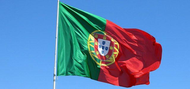 portugal, flag, wind